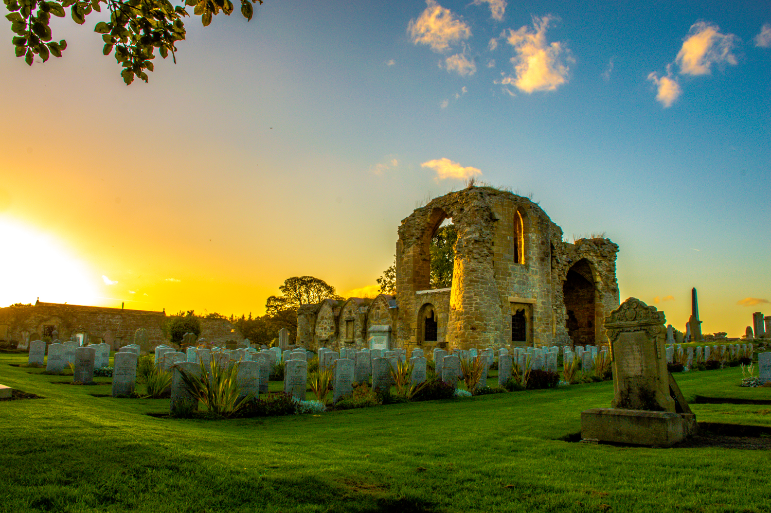 KInloss Abbey at Sunset